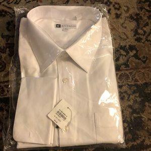 NWT Bachrach 181/2–36/37 JamesBond WhiteDressShirt
